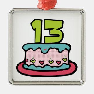 Torta de cumpleaños de 13 años ornamento para reyes magos