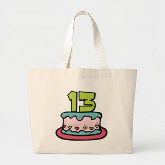 Torta de cumpleaños de 13 años bolsas