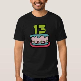 Torta de cumpleaños de 13 años camisas