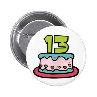 Torta de cumpleaños de 13 años pin