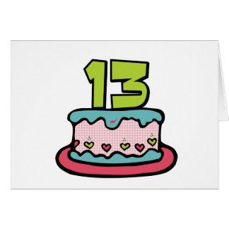 Torta de cumpleaños de 13 años tarjeton