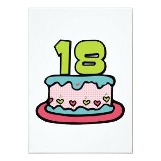 Torta de cumpleaños de 18 años anuncio