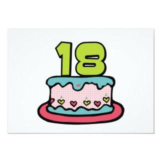 Torta de cumpleaños de 18 años invitación 12,7 x 17,8 cm