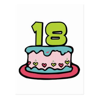 Torta de cumpleaños de 18 años postal