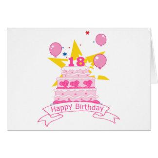 Torta de cumpleaños de 18 años felicitación
