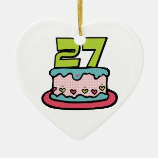 Torta de cumpleaños de 27 años ornamentos para reyes magos