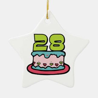 Torta de cumpleaños de 28 años ornatos