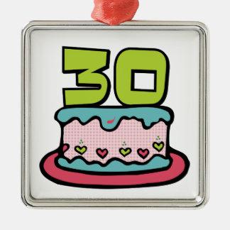 Torta de cumpleaños de 30 años ornamento para reyes magos