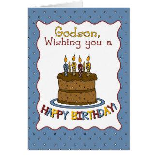 Torta de cumpleaños de 3292 ahijados tarjeta de felicitación