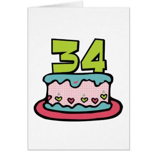 Torta de cumpleaños de 34 años felicitacion