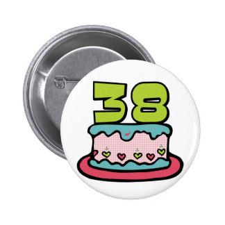 Torta de cumpleaños de 38 años chapa redonda 5 cm