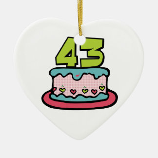 Torta de cumpleaños de 43 años adornos
