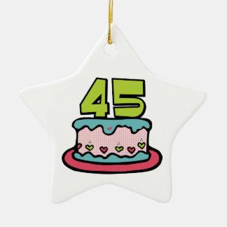 Torta de cumpleaños de 45 años ornato