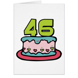 Torta de cumpleaños de 46 años tarjeta de felicitación