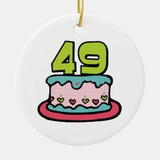 Torta de cumpleaños de 49 años ornamento de reyes magos