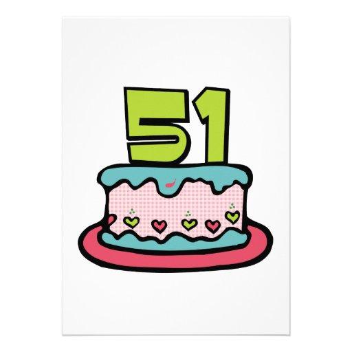 Torta de cumpleaños de 51 años comunicados personales
