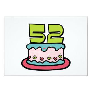 Torta de cumpleaños de 52 años comunicados personales