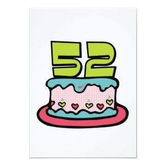 Torta de cumpleaños de 52 años invitacion personal