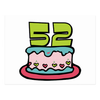 Torta de cumpleaños de 52 años postal