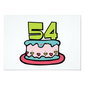 Torta de cumpleaños de 54 años invitación 12,7 x 17,8 cm