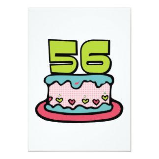 Torta de cumpleaños de 56 años invitacion personal