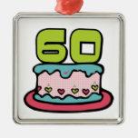 Torta de cumpleaños de 60 años ornamento para reyes magos