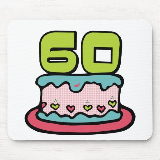 Torta de cumpleaños de 60 años alfombrilla de raton