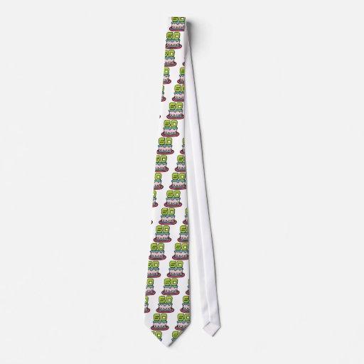 Torta de cumpleaños de 60 años corbatas personalizadas