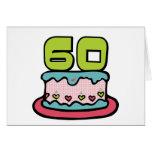 Torta de cumpleaños de 60 años felicitaciones
