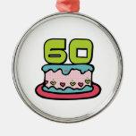Torta de cumpleaños de 60 años ornatos