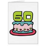 Torta de cumpleaños de 60 años tarjeton