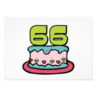 Torta de cumpleaños de 66 años anuncio