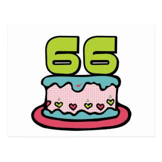 Torta de cumpleaños de 66 años postal