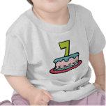 Torta de cumpleaños de 7 años camiseta
