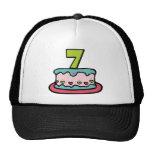 Torta de cumpleaños de 7 años gorra