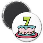 Torta de cumpleaños de 7 años iman