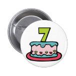 Torta de cumpleaños de 7 años pin
