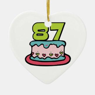 Torta de cumpleaños de 87 años adorno de navidad