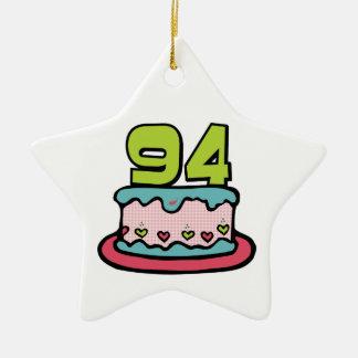Torta de cumpleaños de 94 años ornato