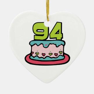 Torta de cumpleaños de 94 años adorno de navidad