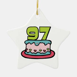 Torta de cumpleaños de 97 años ornamento para reyes magos