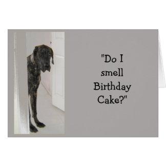 Torta de cumpleaños del suegro del humor del perro felicitación