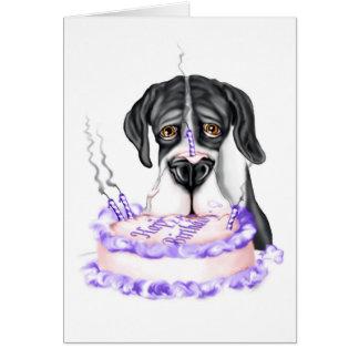 Torta de cumpleaños del UC de la capa de great Tarjeta De Felicitación