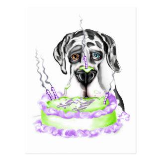 Torta de cumpleaños del UC del Harlequin de great Postal