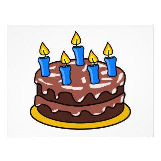 Torta de cumpleaños flyer personalizado
