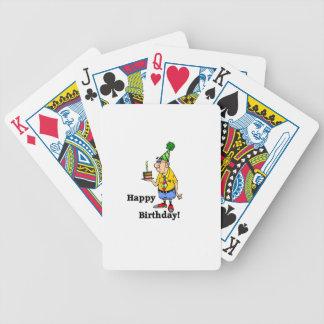 Torta de cumpleaños - hombre cartas de juego