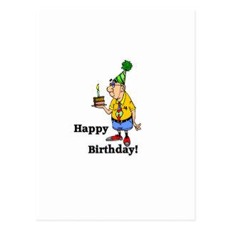 Torta de cumpleaños - hombre postales