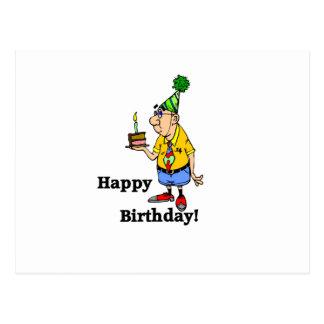 Torta de cumpleaños - hombre postal