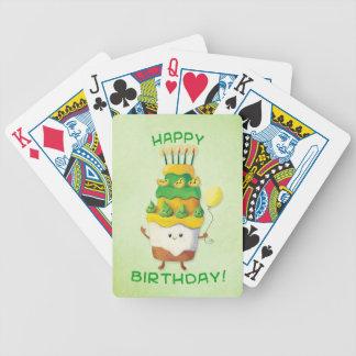 Torta de cumpleaños linda de Kawaii Cartas De Juego