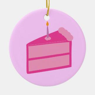 Torta de cumpleaños rosada ornato